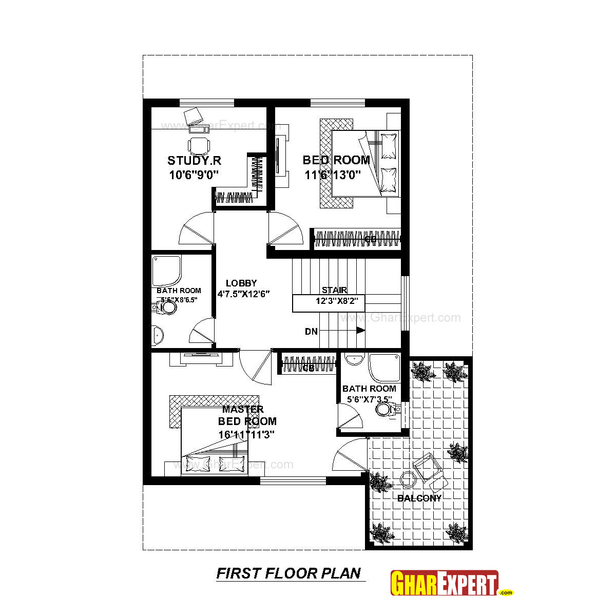 House plan for 30 feet by 45 feet plot plot size 150 House plan sample