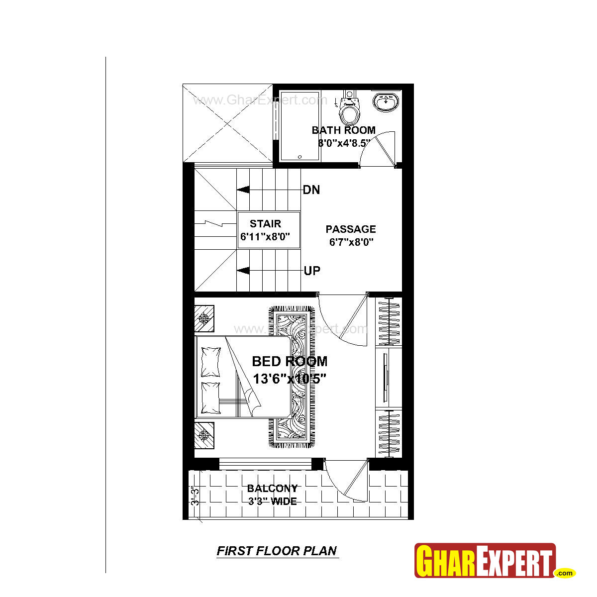 Plan For 15 Feet By 25 Feet Plot  Plot Size 42 Square Yards  Plan Code 1684 on 30 x house floor plans