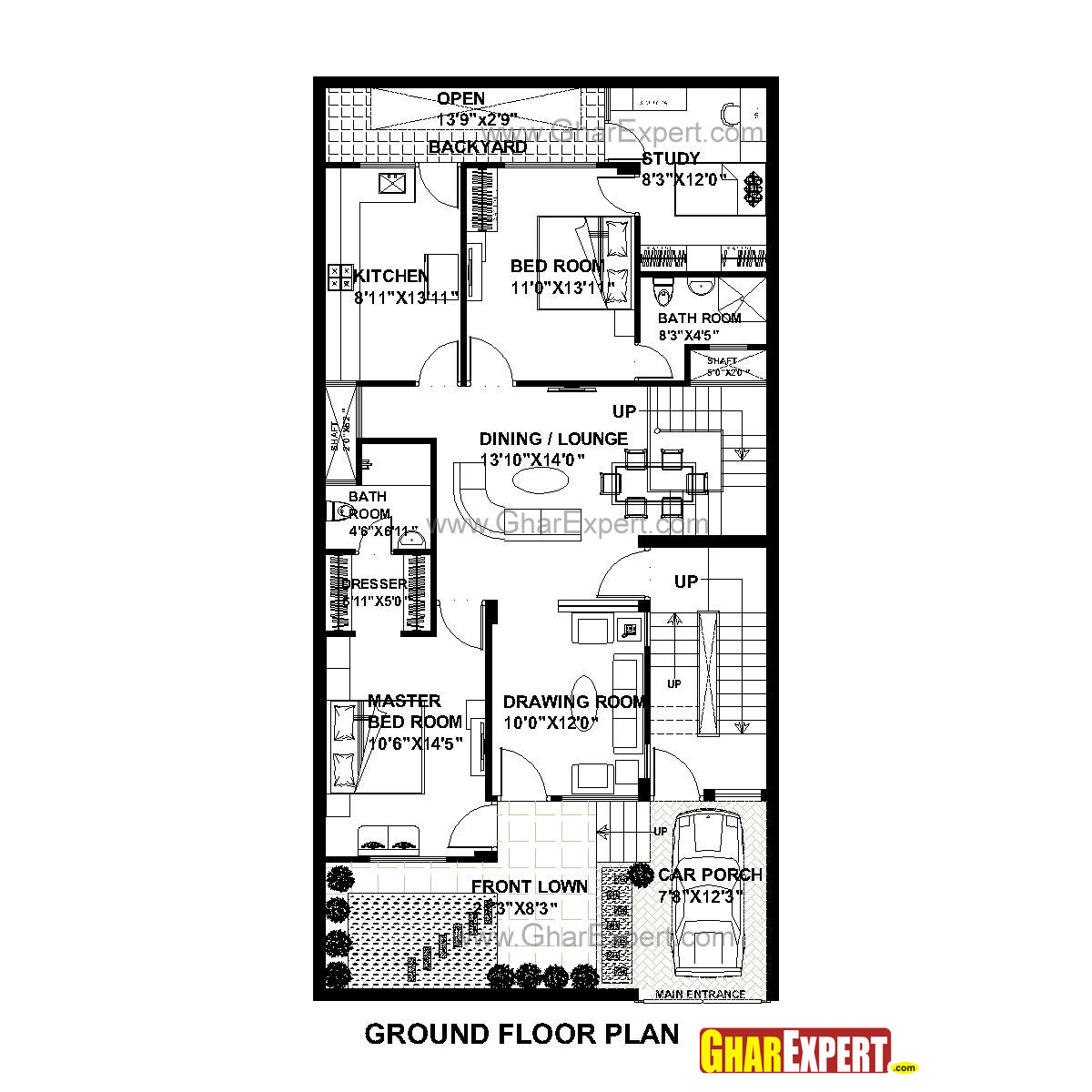 House plan for 30 feet by 60 feet plot plot size 200 for 50 yards house design