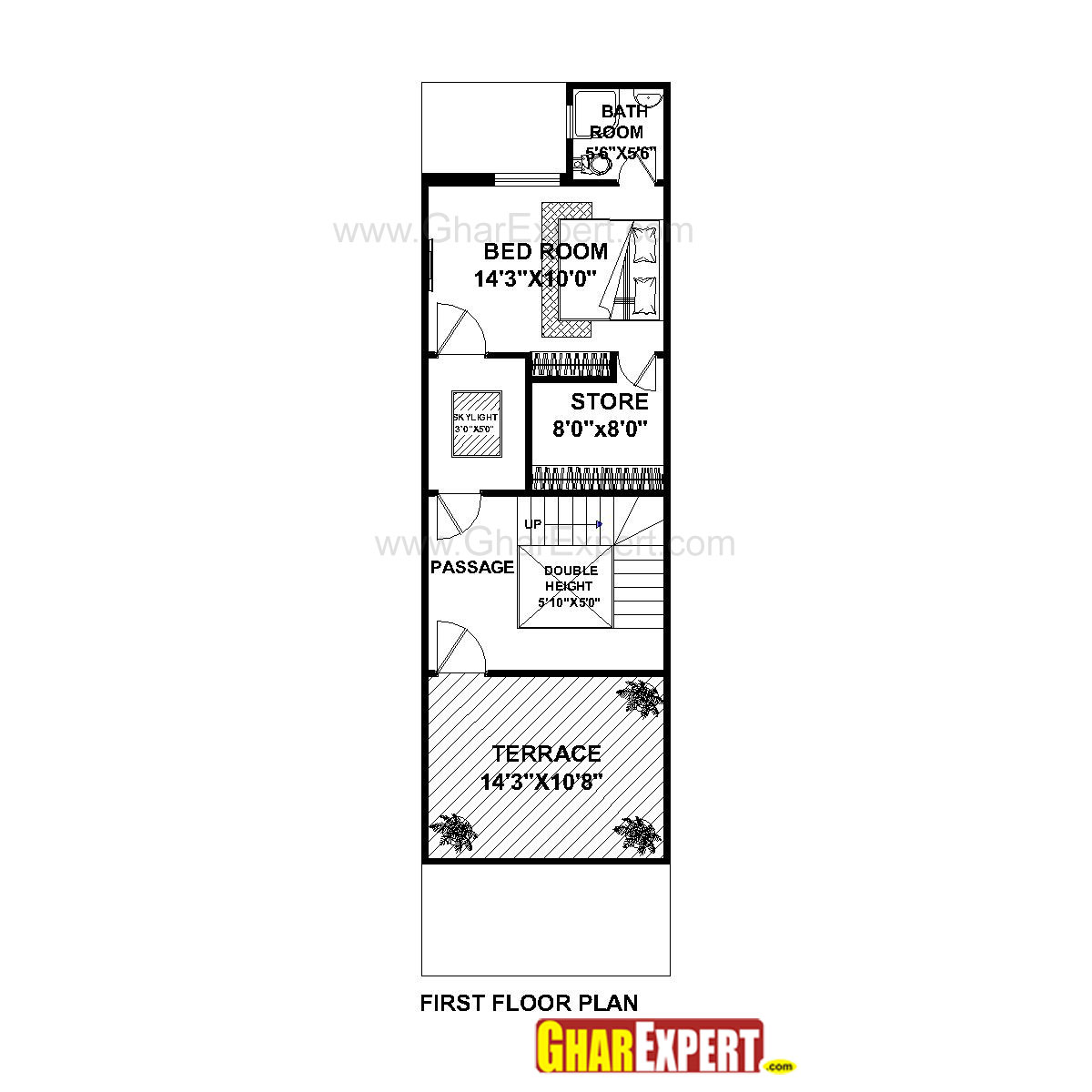 Drawing Floor Plans In Excel House Plan For 16 Feet By 54 Feet Plot Plot Size 96