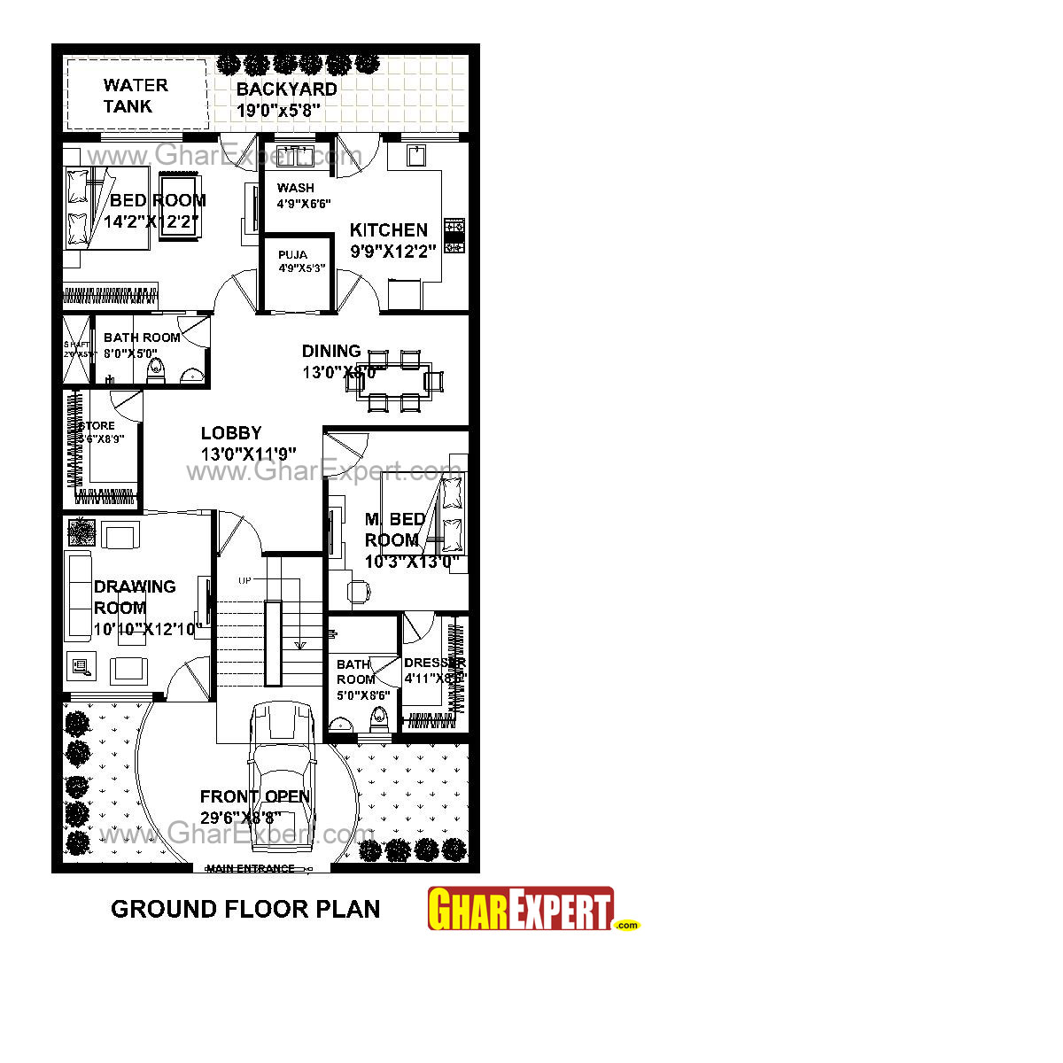 house plan for 31 feet by 60 feet plot  plot size 206