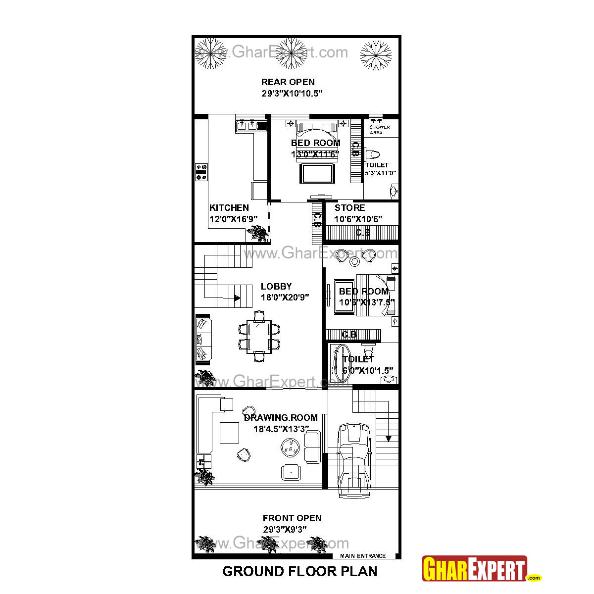 House plan for 30 feet by 75 feet plot plot size 250 square yards house plan for 30 feet by 75 feet plot plot size 250 square yards malvernweather Image collections