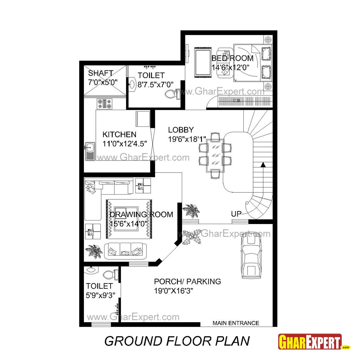 House Plan For 33 Feet By 49 Feet Plot Plot Size 170