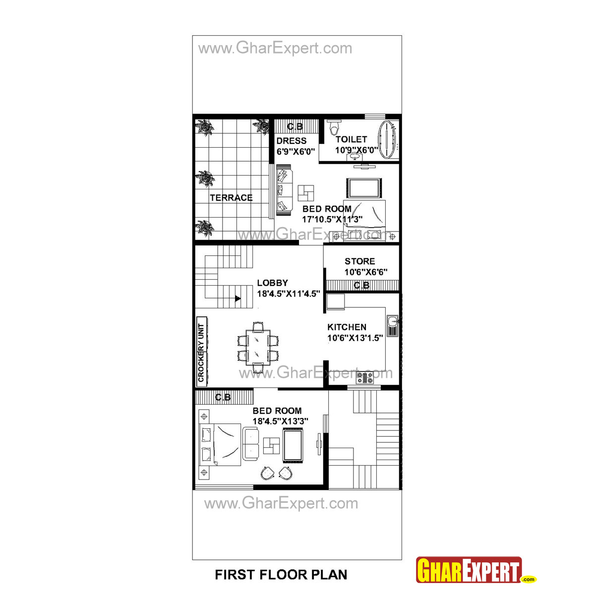 house plan for 30 feet by 75 feet plot  plot size 250
