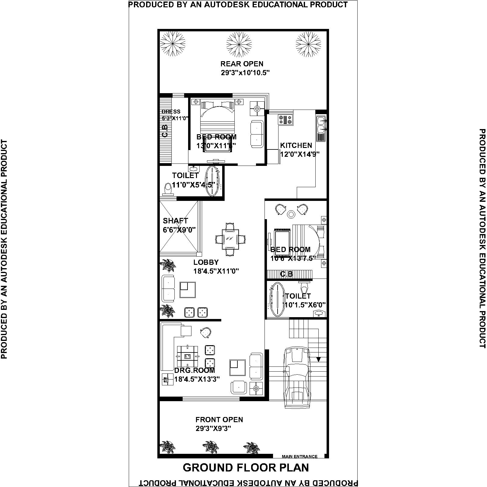 Charming house plan for 27 feet by 50 feet plot ideas for 50 yards house design