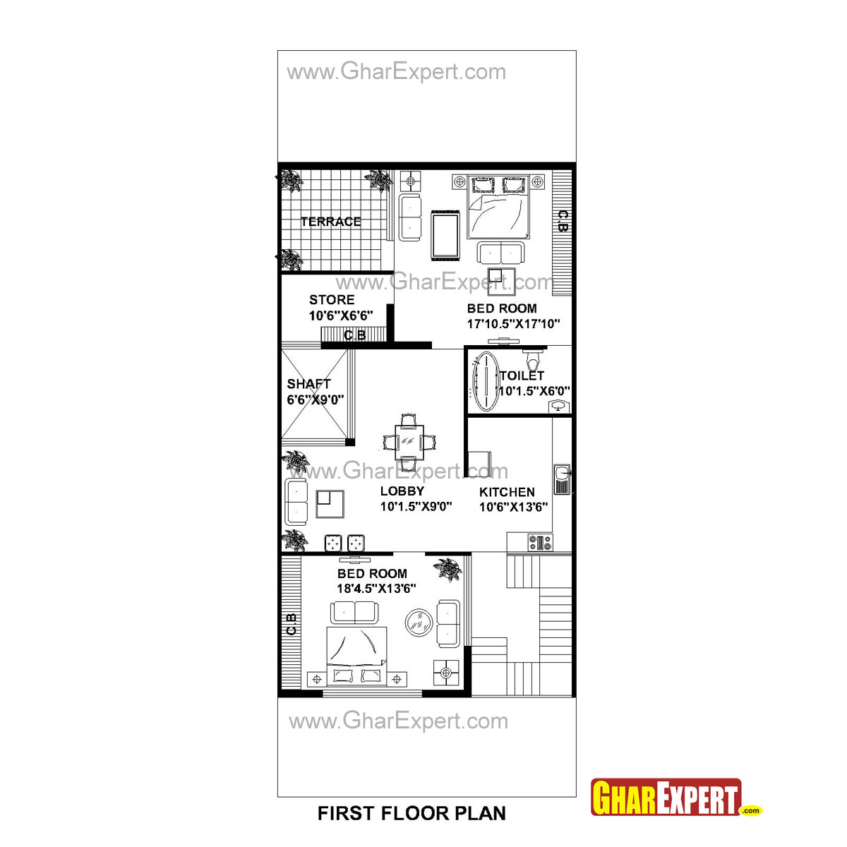 House Plan For 30 Feet By 75 Feet Plot (Plot Size 250