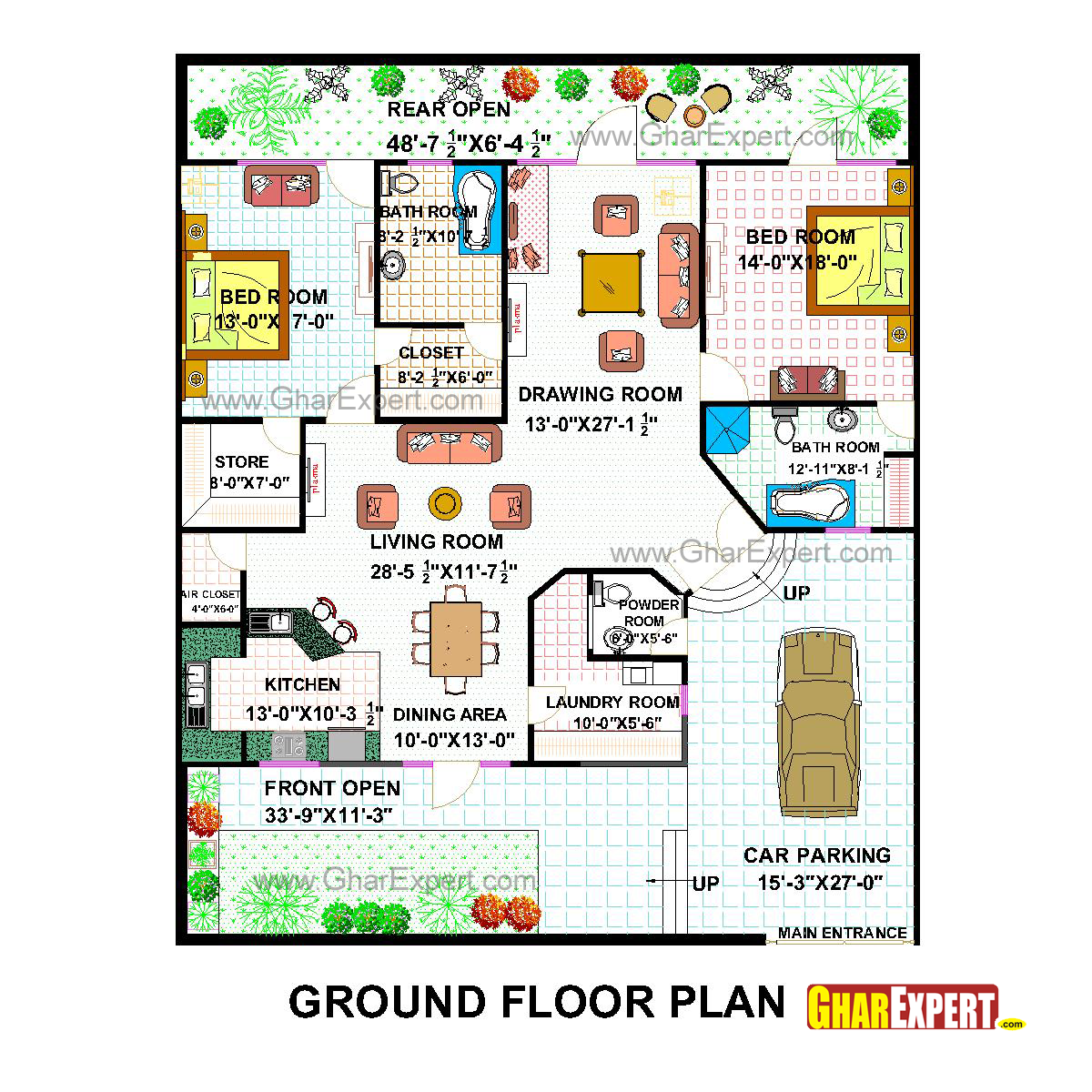 Pent house plan for 50 feet by 60 feet plot plot size 333 for What is a plot plan of a house
