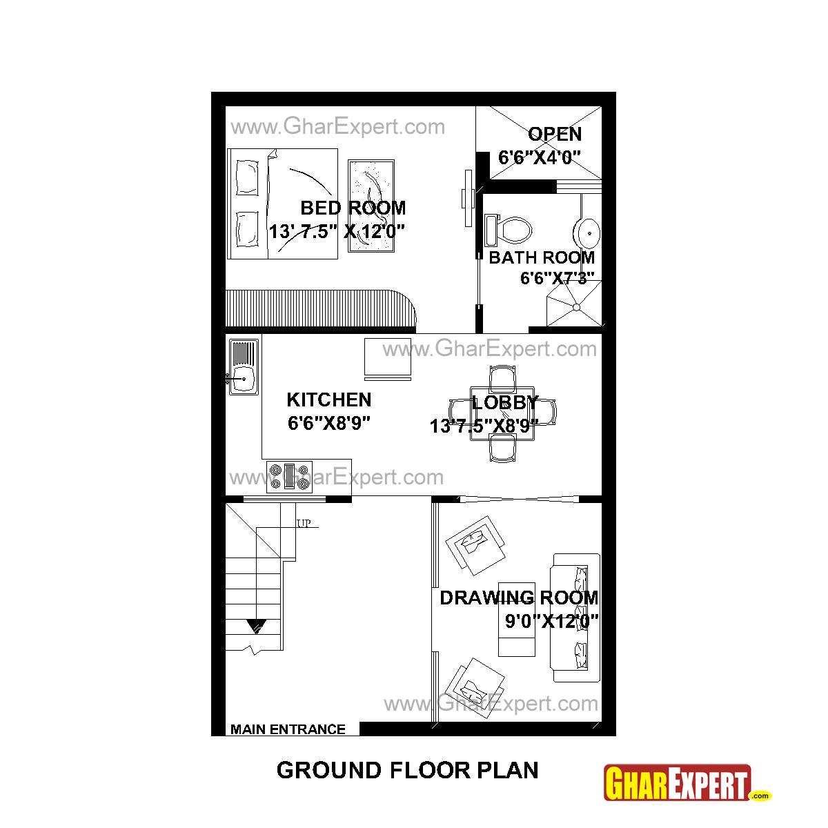100 Gaj Into Square Feet House Plan For 50 Feet By