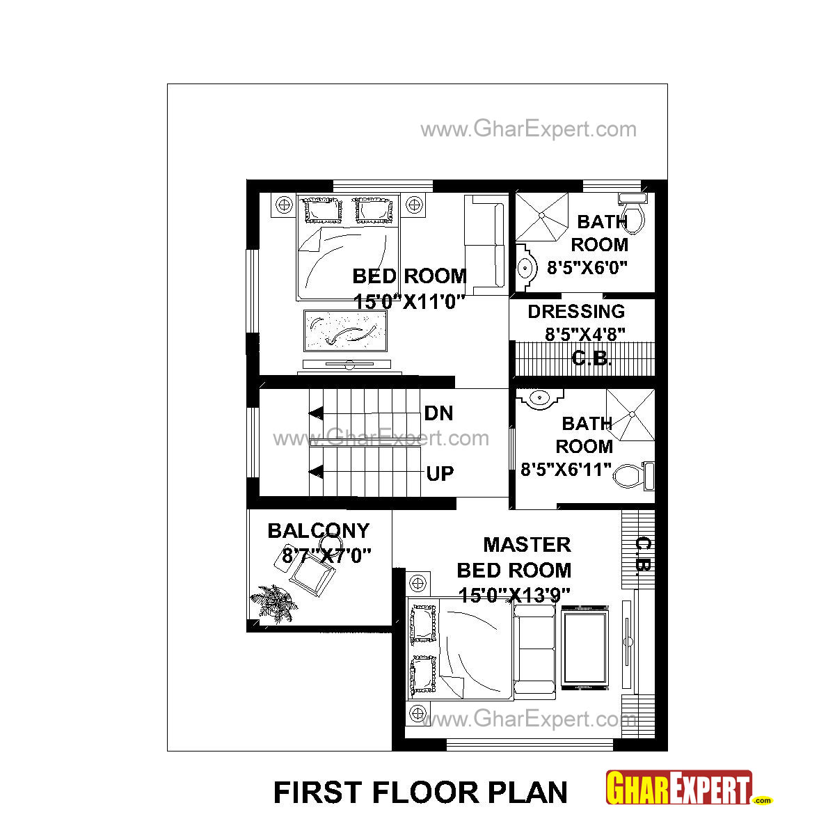 House Plan For 30 Feet By 40 Feet Plot Plot Size 133