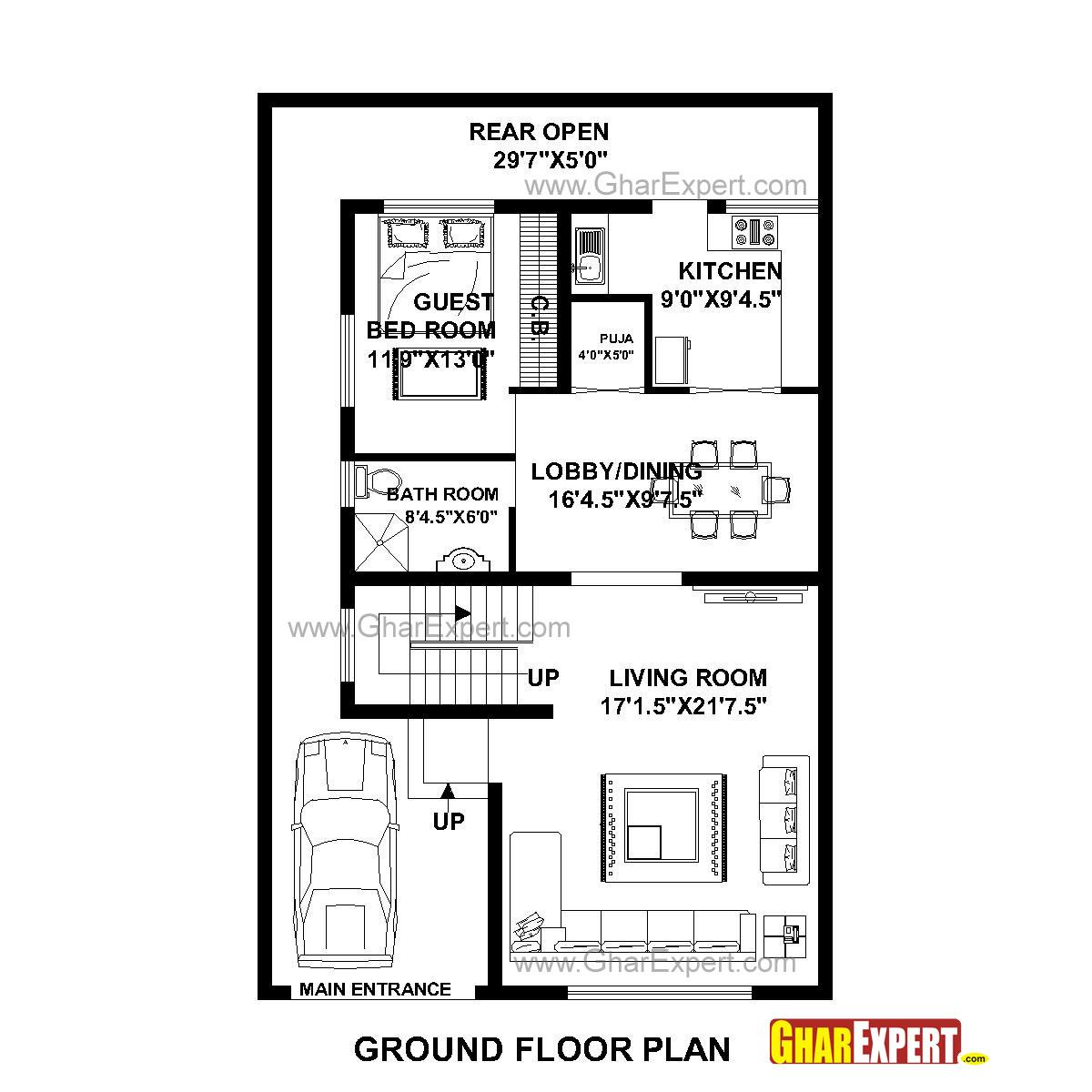 house plan for 31 feet by 49 feet plot  plot size 169