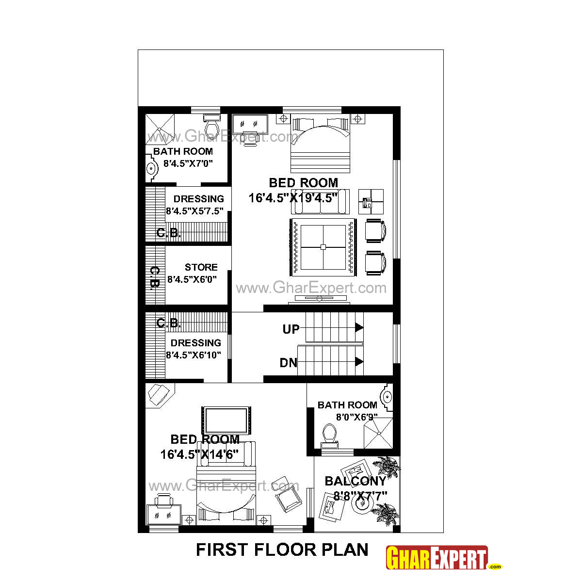 house plan for 31 feet by 49 feet plot  plot size 169