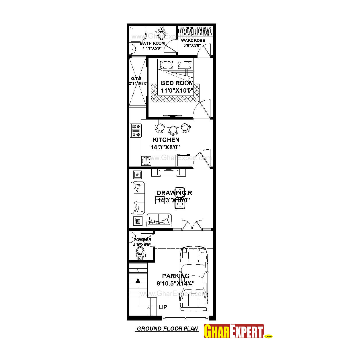 House plan for 15 feet by 50 feet plot plot size 83 for 10 x 18 square feet