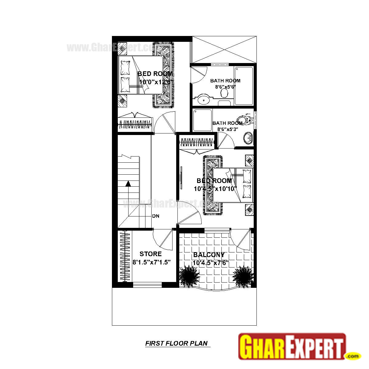 house plan for 20 feet by 40 feet plot  plot size 89