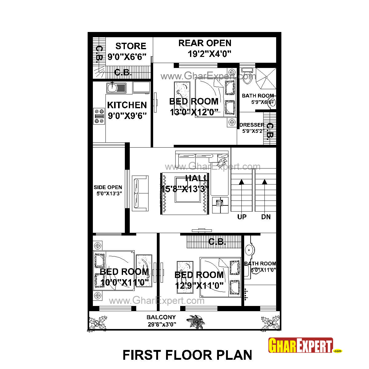 House plan for 30 feet by 50 feet plot plot size 167 for Home floor plans with estimated cost to build
