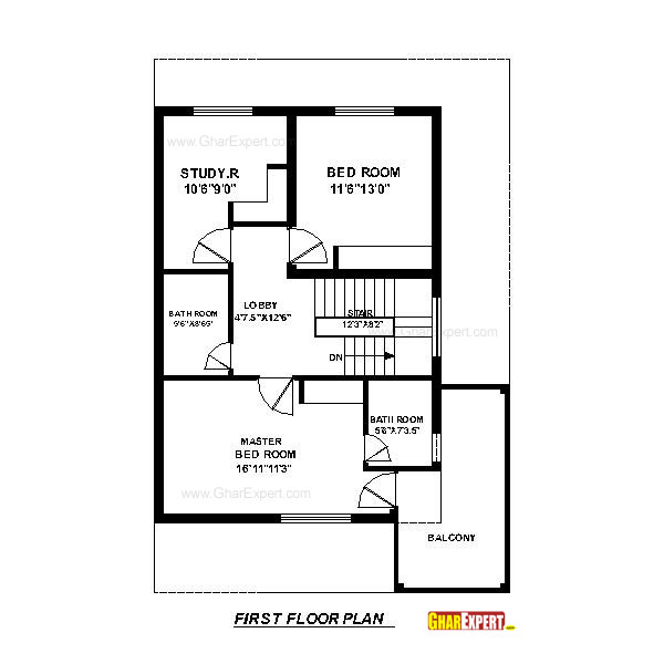 House plan for 30 feet by 45 feet plot plot size 150 for 150 sq ft
