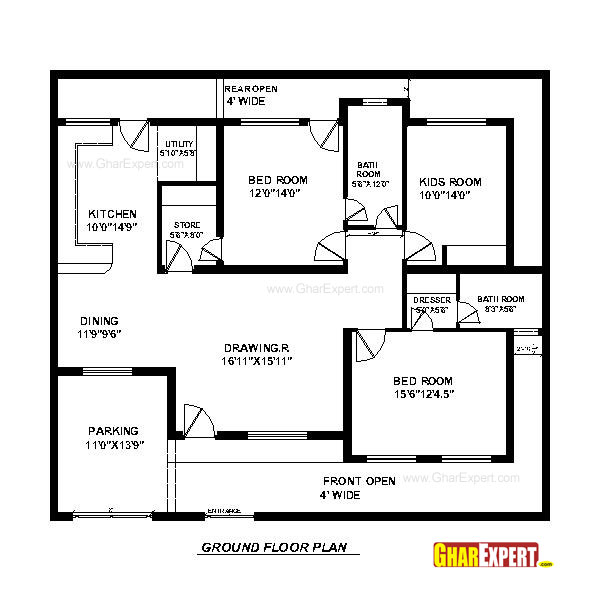House plan for 60 feet by 50 feet plot plot size 333 30 by 45 house plans