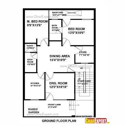 House Plan For 33 Feet By 45 Feet Plot Plot Size 165