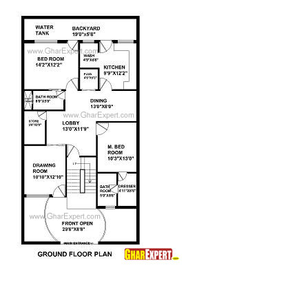 House plan for 33 feet by 55 feet plot plot size 202 for Plot plan for my house online