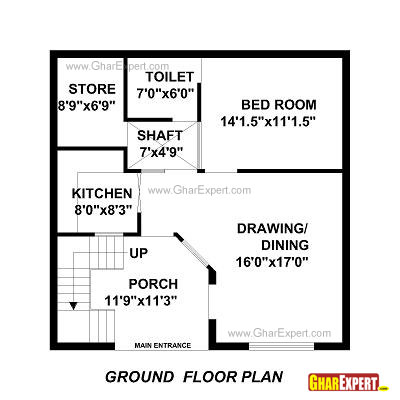 house plan for 30 feet by 30 feet plot plot size 100