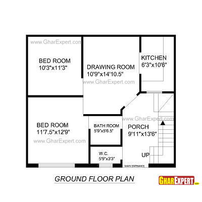 Plan For 28 Feet By 32 Feet Plot  Plot Size 100 Square Yards  Plan Code 1311 on 30 x floor plans
