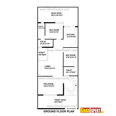 Minimalist 30 ft wide house plans condointeriordesigncom for 250 square feet house plans