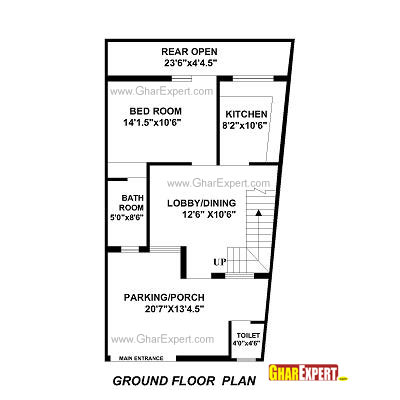 House plan for 22 feet by 35 feet plot plot size 86 for House plot plan examples