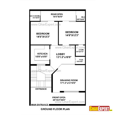 House Plan For 28 Feet By 48 Feet Plot Plot Size 149