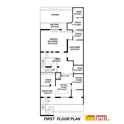 house plan for 30 feet by 76 feet plot plot size 253