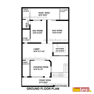 Plan For 32 Feet By 58 Feet Plot  Plot Size 206 Square Yards Plan Code 1562 on small home designs india