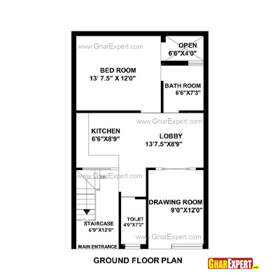Plan For 22 Feet By 35 Feet Plot  Plot Size 86 Square Yards  Plan Code 1450 on 30 x floor plans