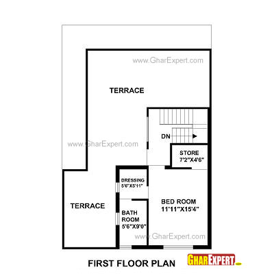 House Plan for 30 Feet by 45 Feet plot (Plot Size 150 Square Yards)