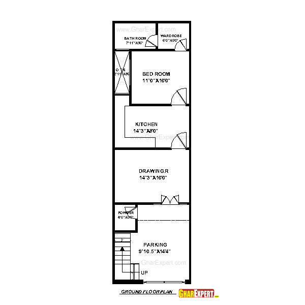 House plan for 15 feet by 50 feet plot plot size 83 for 16 x 50 floor plans