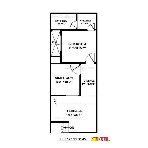 House Plan For 15 Feet By 50 Feet Plot Plot Size 83