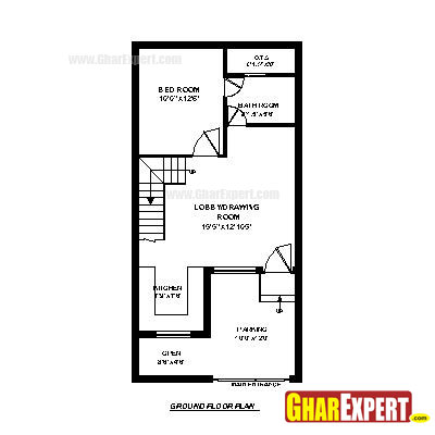 House plan for 22 feet by 42 feet plot plot size 103 40 sq house plans