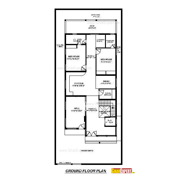 House Plan For 33 Feet By 40 Feet Plot Plot Size 147: House Plan For 32 Feet By 80 Feet Plot (Plot Size 284