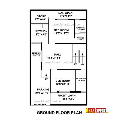 House plan for 30 feet by 50 feet plot plot size 167 for 30 50 house plans photos