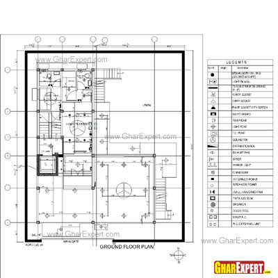 Home Wiring on Sample Architectural Structure Plumbing And Electrical Drawings