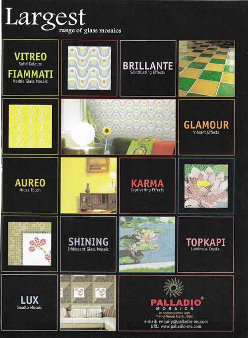 Company:Tile Flooring:Palladio Mosaics Largest range of glass mosaics