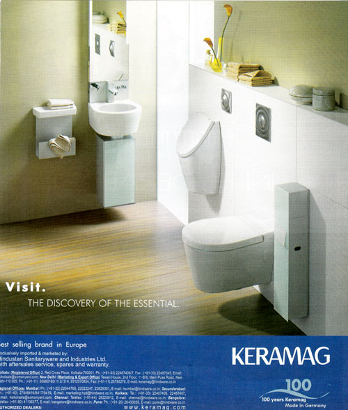 Company : Bathroom : Visit. The discovery of the essential
