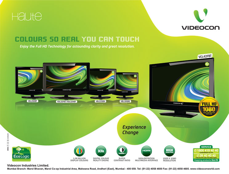 Company : Home Improvement : Videocon Haute Full HD TV