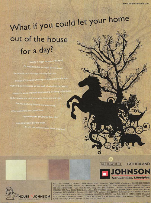 Hyderabad : Tile Flooring : Johnson Leatherland Not just tiles, Lifestyles