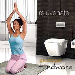 Chandigarh : Bathroom : Get Charged Hindware Italian Collection