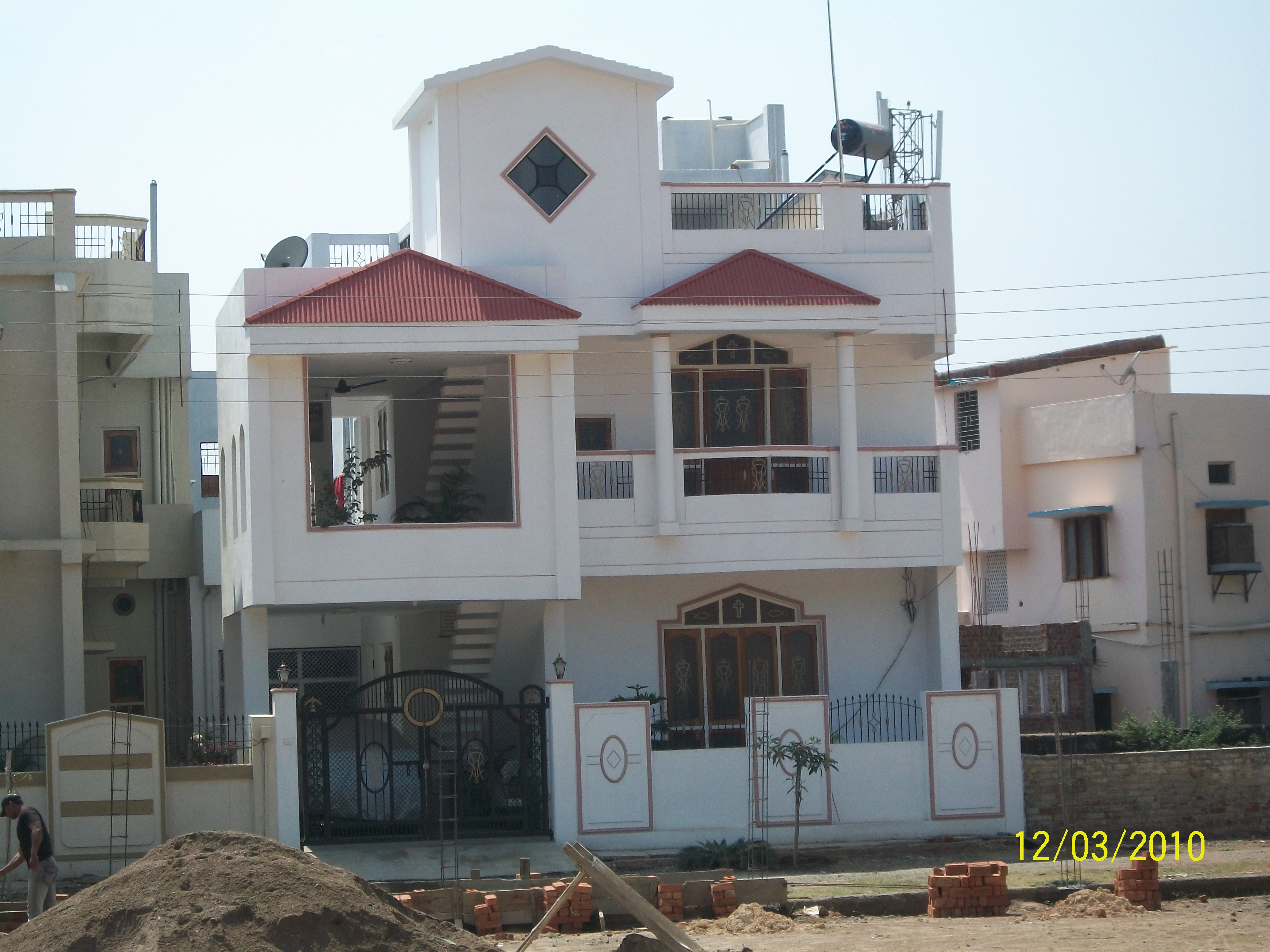 Front Elevation Balcony Design : Over head water tank