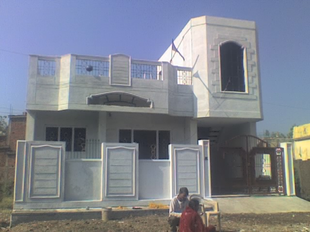 Can i have front elevation for indian homes with single story for Single floor house elevations indian style