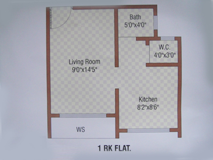 Convertion from 1rk to 1bhk for Interior decoration for 1rk