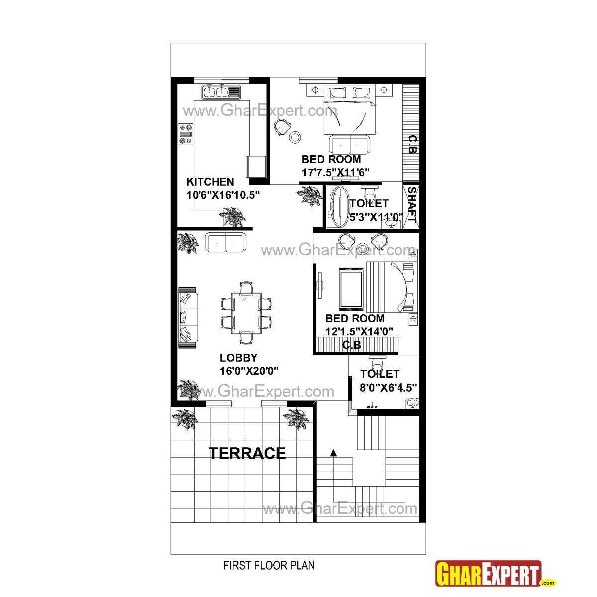 Gc 1310 Plan House Plan For 30 Feet By 60 Feet Plot Plot