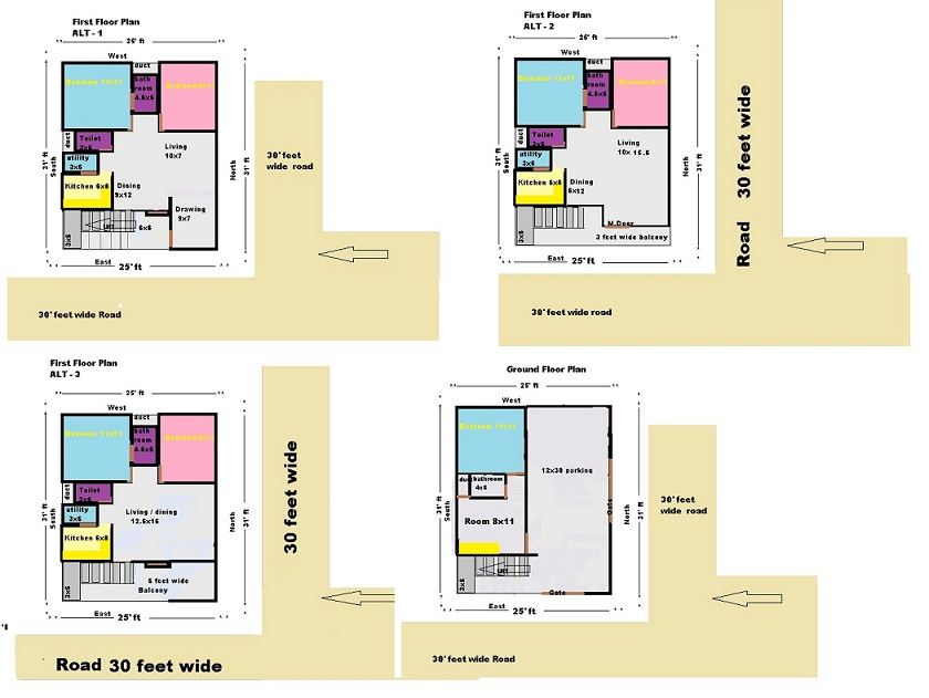 . east and north facing house plan please give reviews
