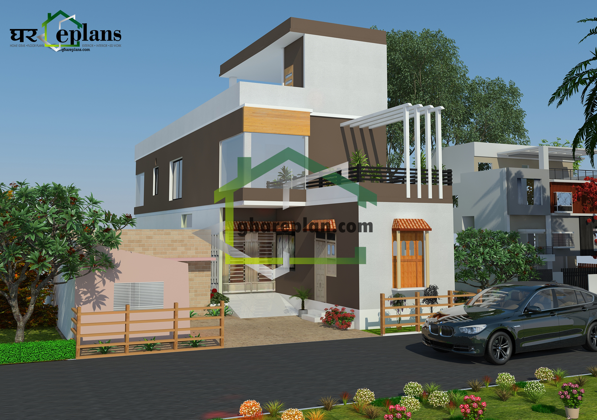 West Facing Ground Floor Elevation : Best elevation deisgns for west facing two floor house