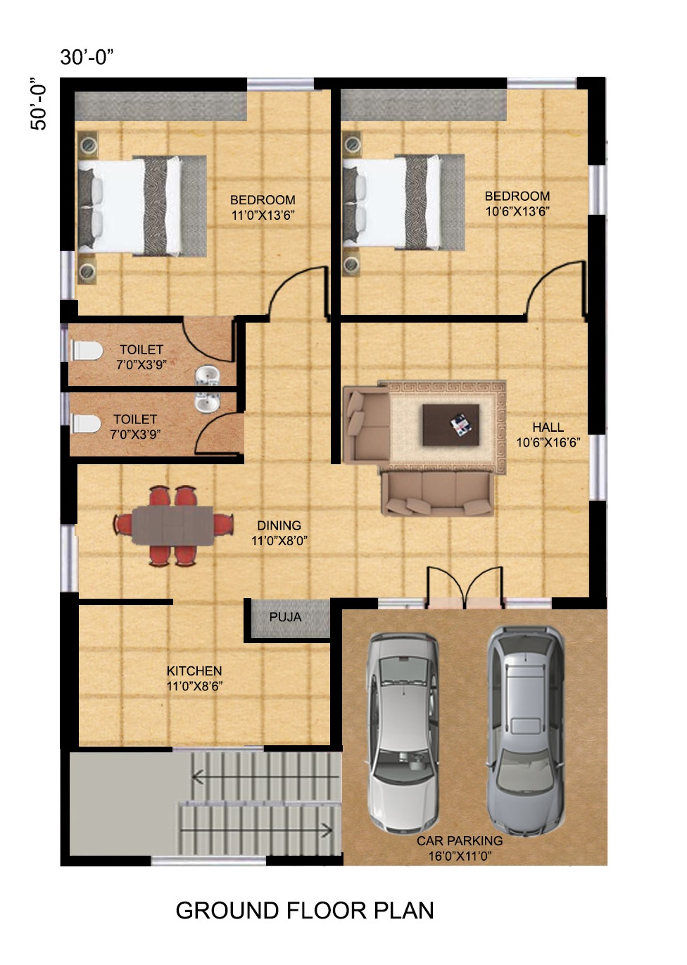 Sir Please Send North Facing House Planning Diagram As Per Vasthu 2 Bhk Pooja Ro