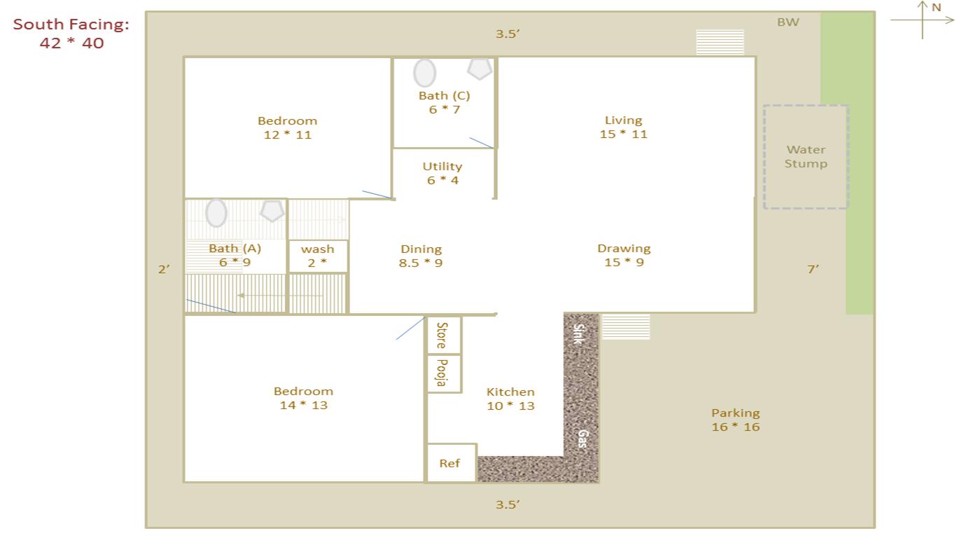 100 30x40 Duplex House Floor Plans 100 30x40 House